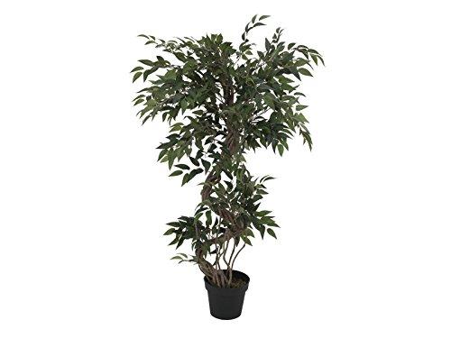 EUROPALMS Ficus Multi Spiralstamm, 130 cm (Kunstpflanze)