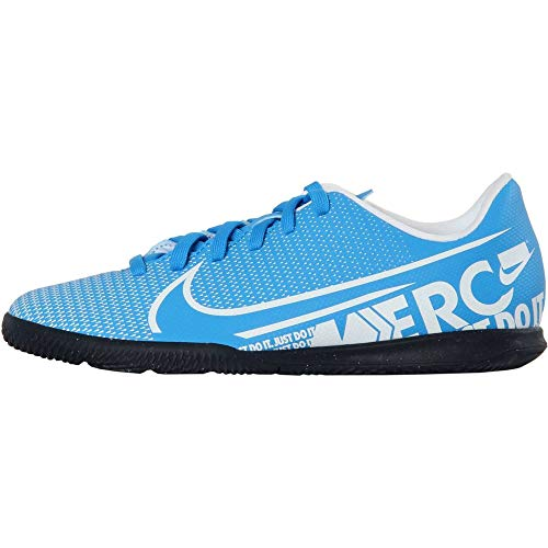 Nike Unisex-Kinder Vapor 13 Club IC Fußballschuhe, Mehrfarbig (Blue Hero/White/Obsidian 414), 36 EU