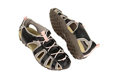 Geox , Sandales pour femme black/ lt grey