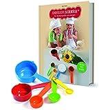 Kinderleichte Becherküche Niños Ligero Taza Cocina 03636Back Juego de 6Piezas para niños Incluye Vaso Medidor