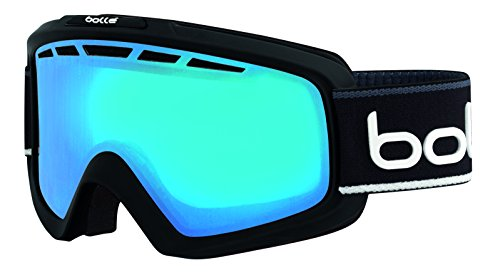 bollé Erwachsene Nova II Skibrillen, Matte Black/White, M/L