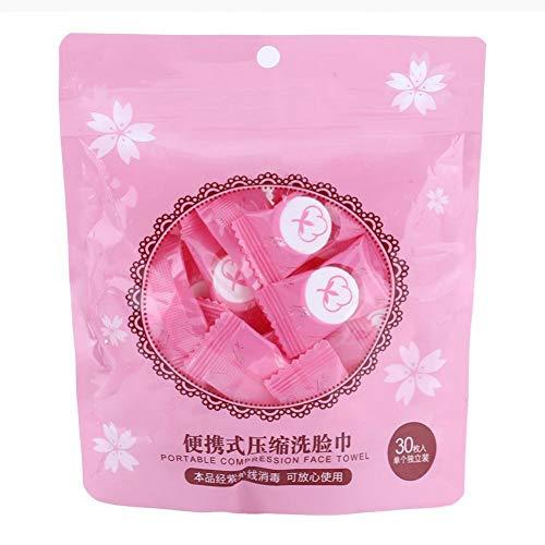 PDFKE30/50/12/36/56 STÜCKE Reisekomprimiertes Handtuch Dry Compressed Coin Einweg-Gesichtstuch Expandable Mini Face Care Magic Towel