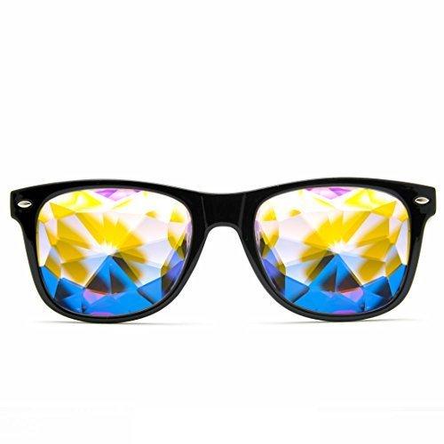 GloFX Herren Kaleidoskop Gläser - Rainbow EDM- Rave -