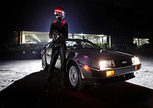 Poster Delorean Daft Punk Style Back to The Futur Wall Art (Daft Punk-aufkleber)