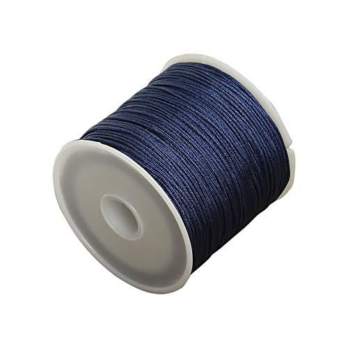 Da.Wa 1x Azul Oscuro Cuerda Seda Collar Pulsera cordón