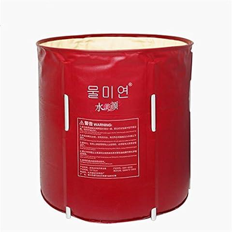 Lightning Ferret-Baño Bañera plegable del barril de adulto No hay necesidad de inflables Bañera de hidromasaje espesado plástico del baño