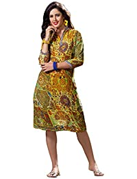 1 Stop Fashion Women's Georgette a-line Kurta