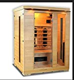 Sauna infrarossi completa di riscaldatori in Ceramica tipo C Giorgia Dimensioni: 150×120x190 cm.