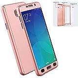 Funda Samsung Galaxy A5 2017 [ 360 °] Protectora + Vidrio Templado, LXHGrowH Funda Case Cover Carcasa para Samsung Galaxy A5 2017 Color Rosado