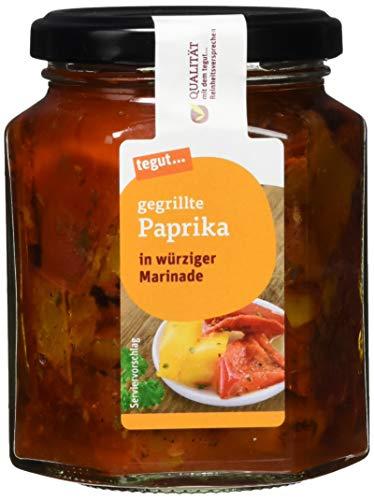 tegut... Gegrillt Paprika in würziger Marinade, 270 g