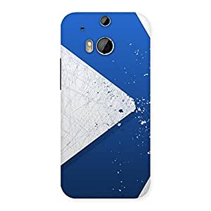 Blue Paint Work Job Back Case Cover for HTC One M8