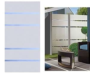 sichtschutz glas element alpha 180x90cm satiniert mit 4 durchsichtigen streifen. Black Bedroom Furniture Sets. Home Design Ideas