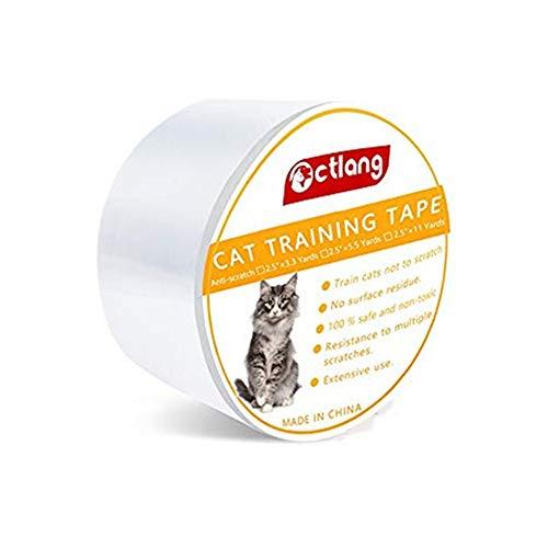.◕‿◕.Anti-Scratch Cat Abschreckung Band Kratzschutz Hilfe,Doppelseitiges Cat Training Klebeband,Anti-Scratch Cat Training Tape,Haustier-Kratzschutz,für Möbel,Couch,Tür,Teppich (Weiß, L) -
