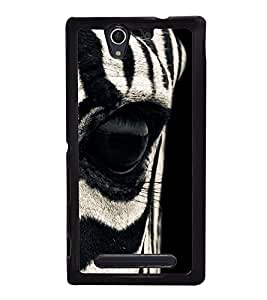 Zebra Eye 2D Hard Polycarbonate Designer Back Case Cover for Sony Xperia C4 Dual :: Sony Xperia C4 Dual E5333 E5343 E5363