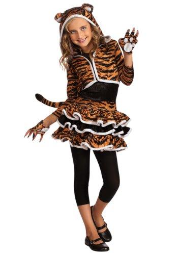 Big Girls' Tigress Hoodie Medium by Rubie's (Costume Girl Jungle)
