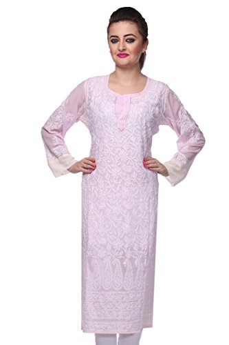 ADA Traditional Embroidered Ethnic Chikankari Kurti/Kurta