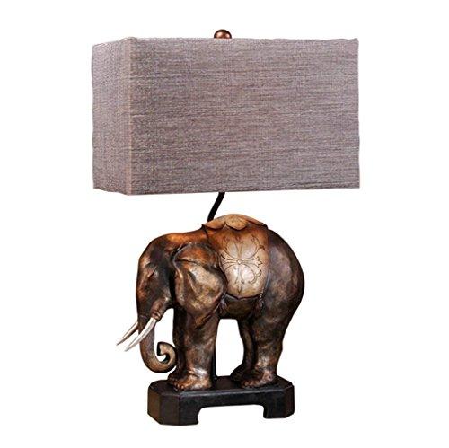 Lámpara De Mesa Elefantes lámpara de escritorio-Lámpara de resina y lámpara de...