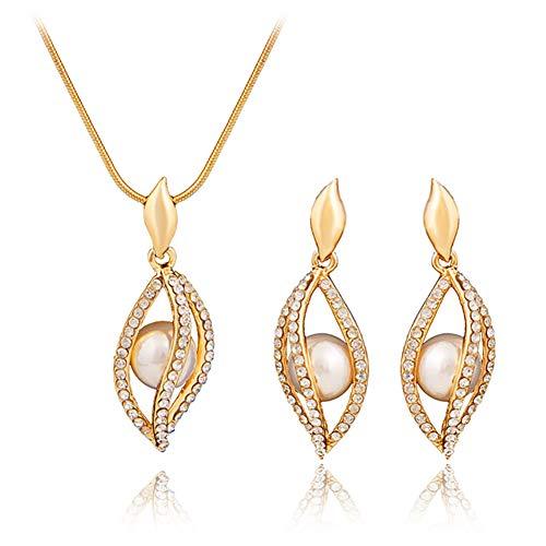 Dxyan set di gioielli di fascia alta europea e americana gioielli foglia cava orecchini in oro placcato gioielli collana pendente,gold
