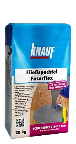 Knauf 47841 Fließspachtel 20 kg Fließ-Spachtel Faserflex, zementgrau