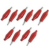 DealMux Red de arranque con aislamiento pinzas cocodrilo Bloqueadores de una sonda de prueba (10 piezas), 44mm