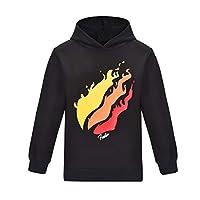 Prestonplayz YouTube Youtuber Boys Girls Hoodie Pullover Sweatshirts Hooded Tops (Black, 120(4-5years))