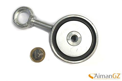 1superiman mit Haken, 67mm Durchmesser x 28mm-Stärke–120kg Kraft zum Angeln mit Magneten