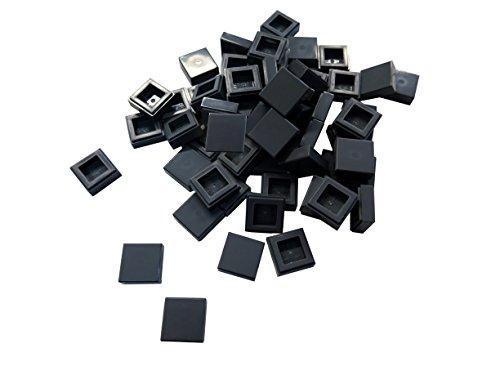 Lego city u di piastrelle grigio scuro con nodi er