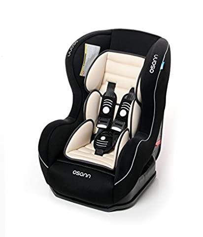 Osann Kinderautositz SafetyONE Isofix Night schwarz, 9 bis 18 kg, ECE Gruppe 1, von 9 Monaten bis ca. 4 Jahre nutzbar