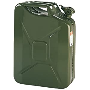 Cartrend 66200 Metall-Benzinkanister grün 20 Liter  und UN- und RAM-Zulassung