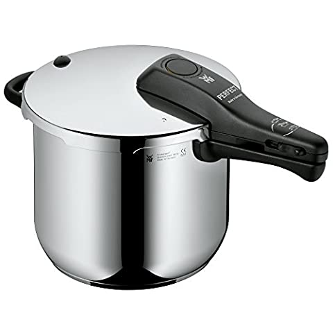 WMF Perfect Pressure cooker 6,5l without insert Ø 22cm Made in Germany internal scaling Cromargan stainless steel suitable for