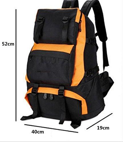 LQABW Outdoor-Mann-Freizeit-Sport-Spielraum-Schulter-große Kapazitäts-Tourist Mountaineering Oxford Tuch Wasserdicht Reduzierte Wandernde Kletternde Rucksack Tasche Blue