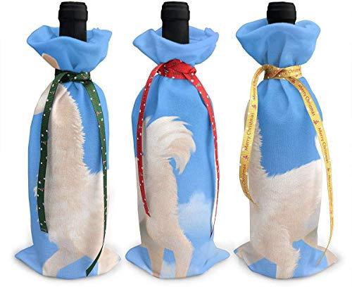 Perilla Fire Llama On Cloud 3 x Weinflaschenhülle für Weihnachten, bunte Champagnertüten Weihnachtsgeschenktüten für den Urlaub, Tischdekoration