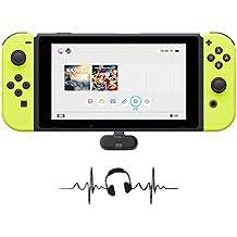 Dazzne Kabelloser Bluetooth-Adapter für Nintendo Switch, GULIKIT Route + Kabelloser Audio-Kopfhörer-Lautsprechersender USB-Typ-C-Adapter Sender und Transceiver für Nintendo Switch