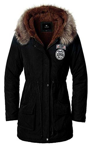 Escalier Donna inverno spessore caldo cappotto con cappuccio piumino