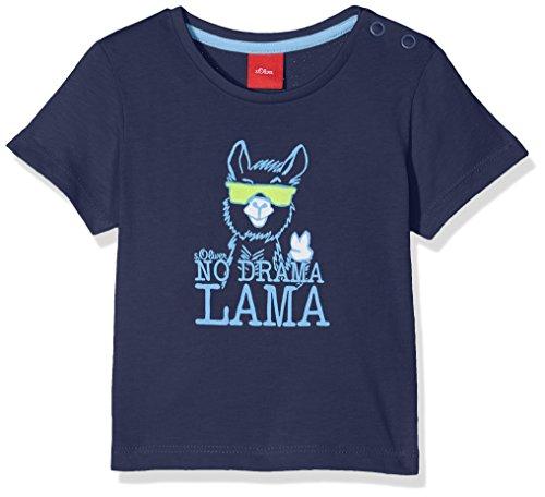 s.Oliver Baby-Jungen T-Shirt 59.806.32.5198, Blau (Dark Blue 5816), 92