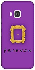 The Racoon Grip Peek Hole Purple hard plastic printed back case / cover for HTC One M9