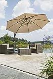 Schneider Sonnenschirm Rhodos Rondo, sand, 350 cm rund, Gestell Aluminium, Bespannung Polyester, 22.4 kg - 2