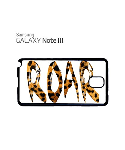 Roar Leopard Pattern Meow Cat Cool Funny Hipster Swag Mobile Phone Case Back Cover Coque Housse Etui Noir Blanc pour Samsung Note 2 White Blanc
