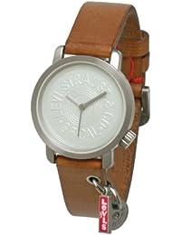 b6d0035fc559 Levis L028GI-1 - Reloj analógico de mujer de cuarzo con correa de piel  marrón