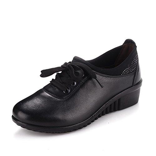 singoli pattini/ il vecchio uomo scarpe da donna/Middle e scarpe invecchiate donne vecchie/Scarpe inferiori molli-A Lunghezza piede=24.3CM(9.6Inch)