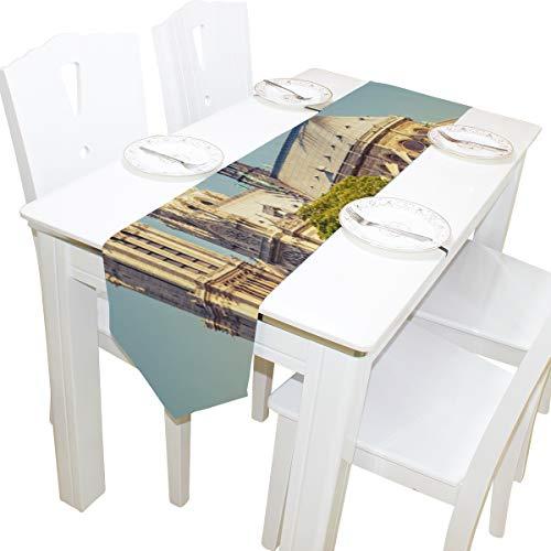 che Notre Dame De Paris Kommode Schal Tuch Abdeckung Tischläufer Tischdecke Tischset Küche Esszimmer Wohnzimmer Hause Hochzeitsbankett Decor Indoor 13x90 Zoll ()