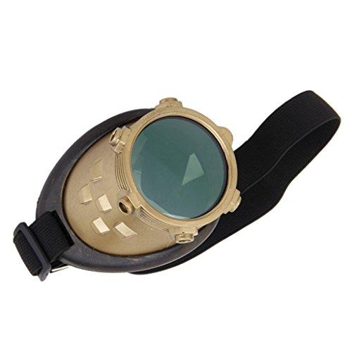 Gazechimp Adjustable Vendimia Gafas Steampunk Cíclope Gafas Gótico de Ojo Derecho con Banda Elástica
