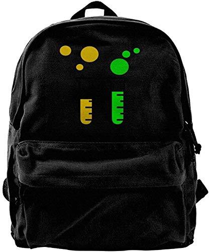 Test Tubes Unisex Canvas Backpack Travel Bag School Bag Laptop Daypack