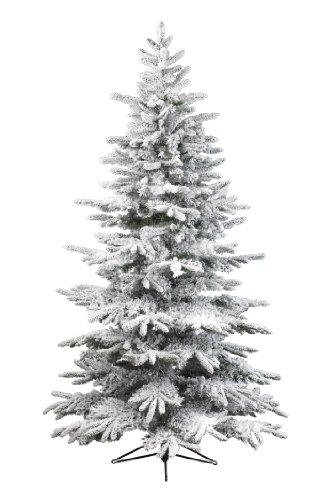 Kaemingk, albero di natale sintetico in pvc, 180 cm, innevato, bianco (weiß)