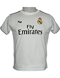 Real Madrid FC Camiseta Infantil Réplica Oficial Primera Equipación  2018 2019 ... 5135d5a034358