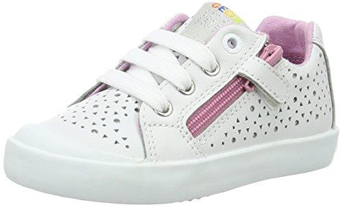 Geox B Kiwi L, Chaussures Marche Bébé Fille Blanc (White/pinkc0406)