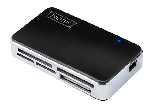 DIGITUS USB 2.0 Multi Card Reader / Kartenleser, unterstütz SCF, SD/SDHC/MMC/MMC4.0/RS-MMC/MMC PLUS/MMC Mobile/MMC Micro/miniSD, MS/MS Pro/MS Pro Duo, XD, Micro SD (T-Flash), M2-Speicherkarten
