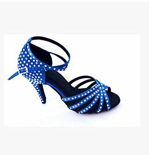 new concept 70519 79975 KUKI Diamond satin ladies scarpe da ballo latino scarpe da ballo per adulti  da ballo sandali