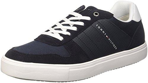 Tommy Hilfiger Herren Lightweight Material Mix Sneaker, Blau (Midnight 403), 45 EU