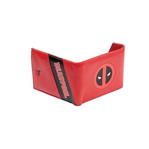 Marvel Deadpool Brieftasche Deadpool face logo Nue offiziell Rot Trifold